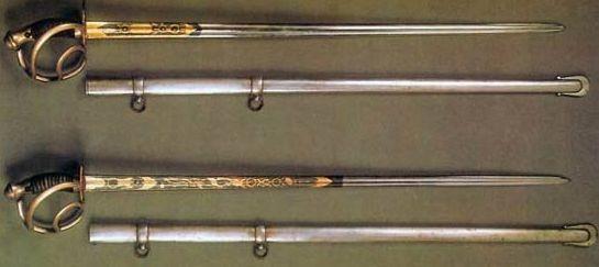 Кирасирские офицерские палаши
