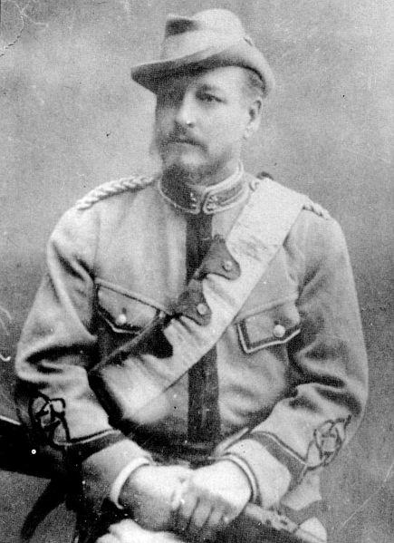 На стороне буров воевали множество иностранных добровольцев. На фото - подполковник Максимов, один из ста русских добровольцев.