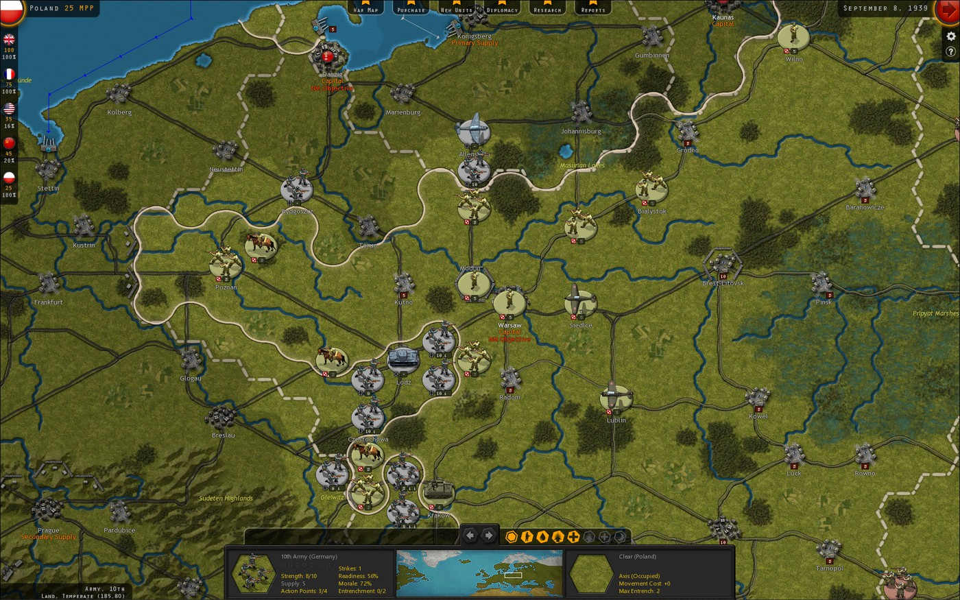Strategic Command WWII: War in Europe Germany Marching On Poland