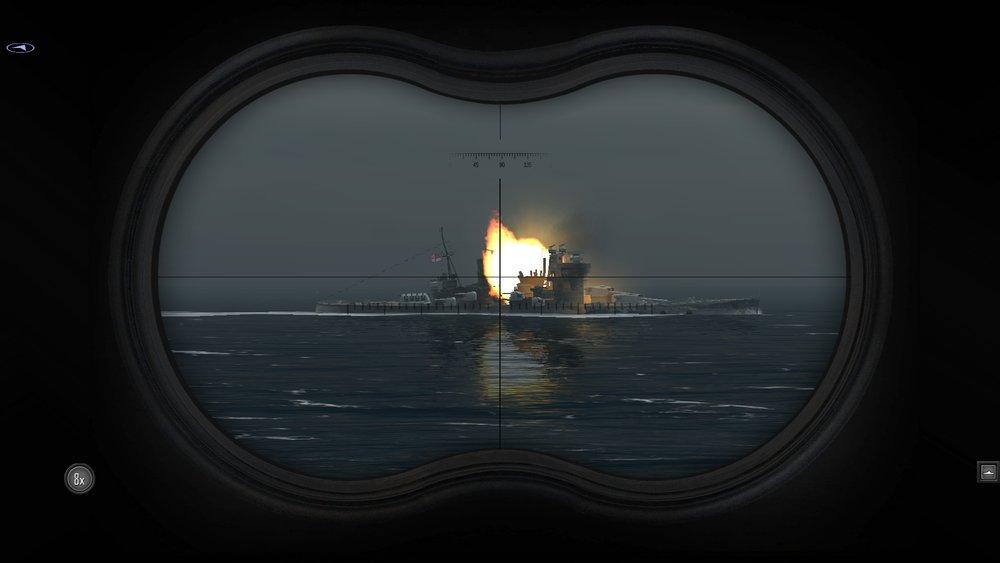 Король Георг под огнем главного калибра Бисмарка