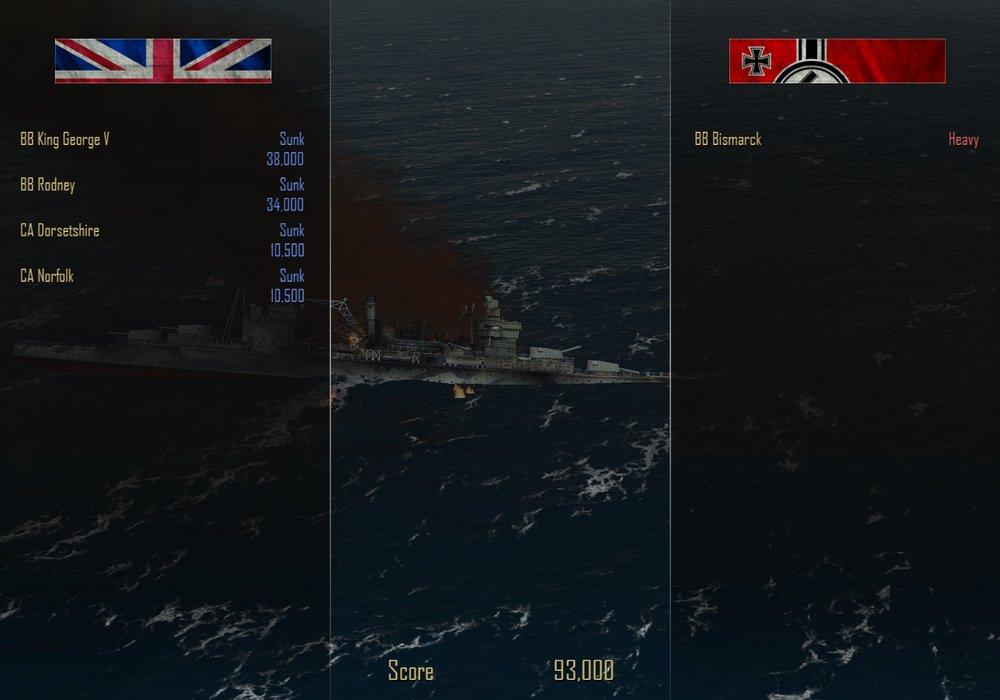 """Потопить """"Бисмарк"""" - Итоги сражения """"Потопить Бисмарк"""""""