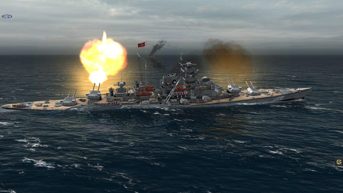 Бисмарк уже неважно выглядит, но продолжает топить всех вокруг