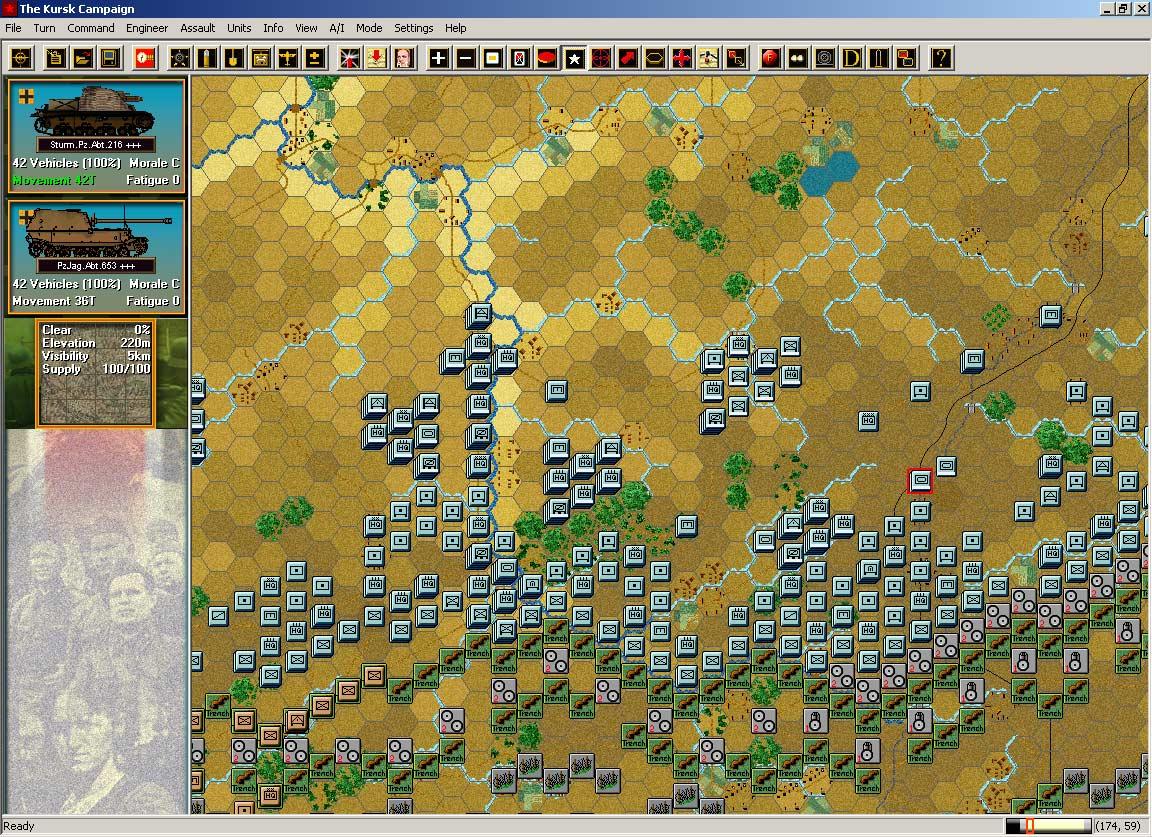 """Panzer Campaigns - один из чемпионов в номинации """"Варгейм с самым неинформативным интерфейсом""""."""