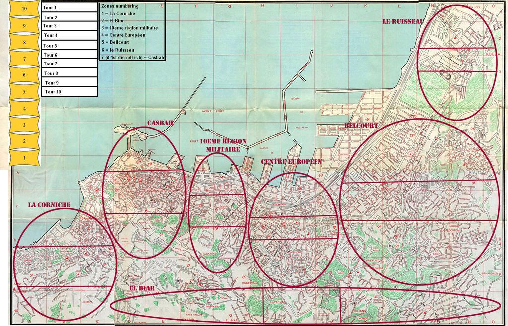 Battle for Algiers - варгейм, описывающий французскую контрповстанческую операцию в столице Алжира - г. Алжир в 1957 году.
