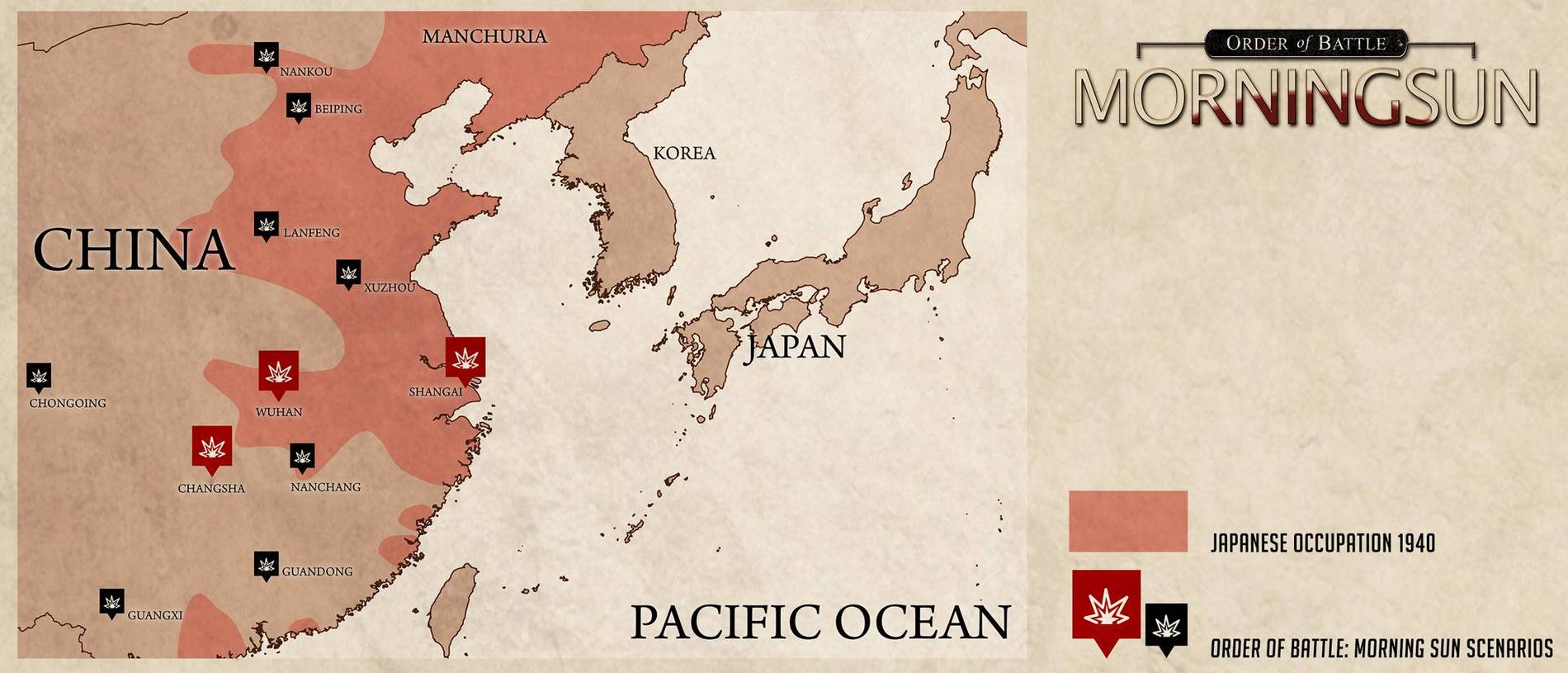 Order of Battle Morning Sun - карта исторических сценариев